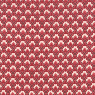Tissu patchwork losange floral rouge - Chafarcani de French General