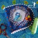 Porte-aiguilles Oiseaux - kit de couture