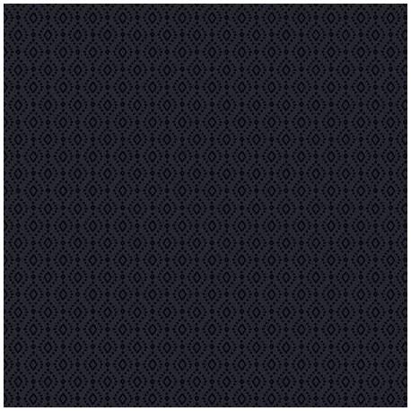 Tissu patchwork diamants noirs ton sur ton - In Geometric
