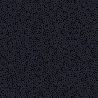 Tissu patchwork bulles de champagne noir ton sur ton - Essential Basics