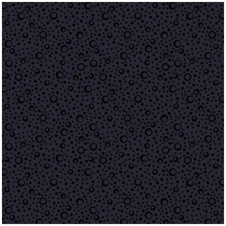 Tissu patchwork bulles de champagne noir ton sur ton - In Geometric