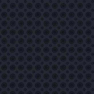 Tissu patchwork cercles concentriques noir ton sur ton - Essentials Basics