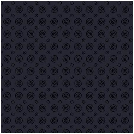 Tissu patchwork cercles concentriques noir ton sur ton - In Geometric