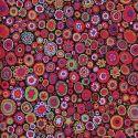 Tissu patchwork Kaffe Fassett Paperweight GP20 rouge et noir Gypsy