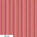 Tissu patchwork Odile Bailloeul rayures de graines fond rose - Land Art