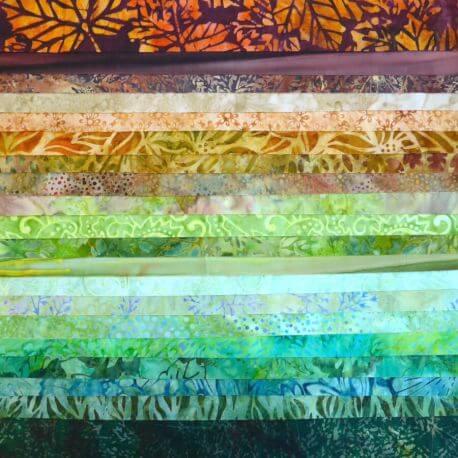 Joli roll de tissus batik - Capilano