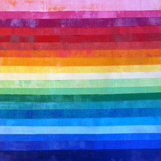 Joli roll de tissus patchwork - Grunge Arc-en-ciel