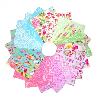 Charm pack de tissus floraux Sweet Melody