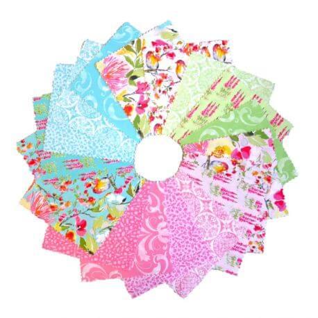Charm pack de tissus floraux Sweet Melody