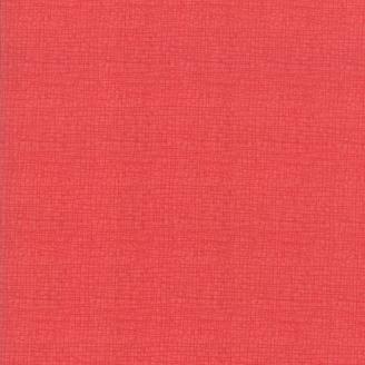 Tissu patchwork faux-uni effet tissé rouge - Painted Meadow de Moda