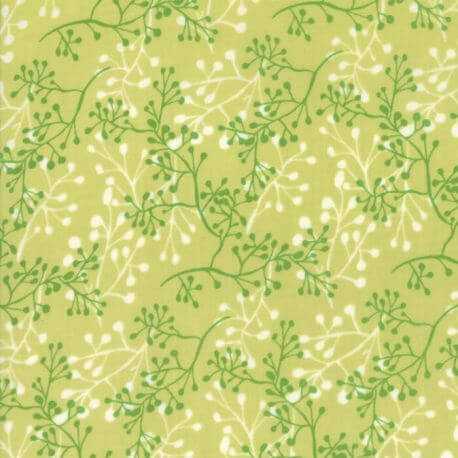 Tissu patchwork branches ton sur ton vert - Painted Meadow de Moda
