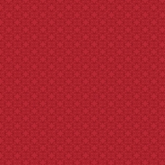 Tissu patchwork bouclettes ton sur ton rouge éclatant