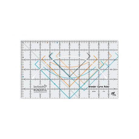 Wonder Curve Ruler© - Règle pour la découpe des courbes