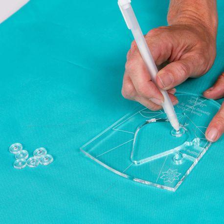 Guides pour tracer la ligne de couture - Règle à quilter Westalee