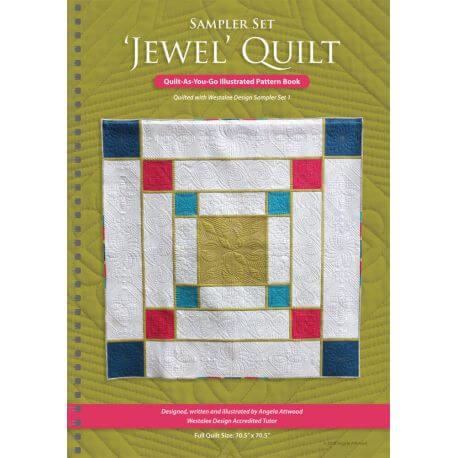 Jewel Quilt, avec le set de 6 motifs Westalee (en anglais)
