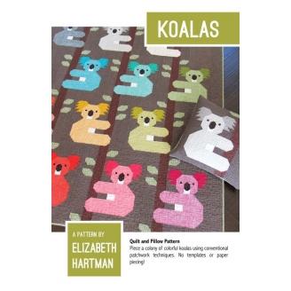 Koalas - Modèle de patchwork d'Elizabeth Hartman