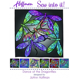 Dance of the dragonflies - collage textile (en anglais)