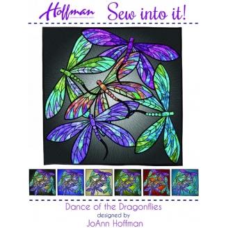 Dance of the dragonflies - collage textile (en anglais)