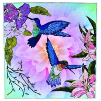 Hummingbird Lane - collage textile (en anglais)