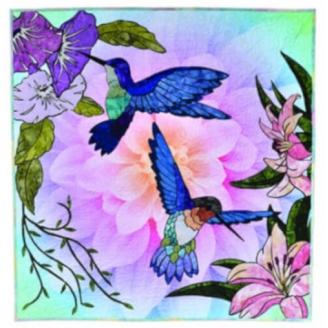 Hummingbird Lane - collage textile (en anglais)