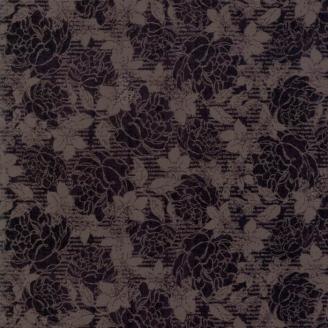 Tissu patchwork dentelle de fleurs noires Jonatina - Stiletto de Basic Grey