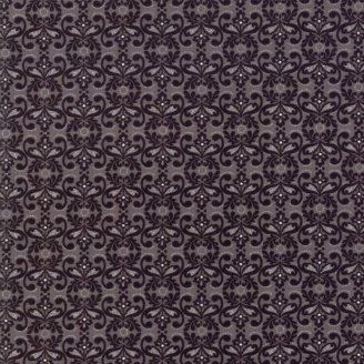 Tissu patchwork napperon noir et gris - Stiletto de Basic Grey