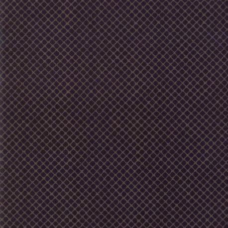 Tissu patchwork quadrillage gris fond noir - Stiletto de Basic Grey