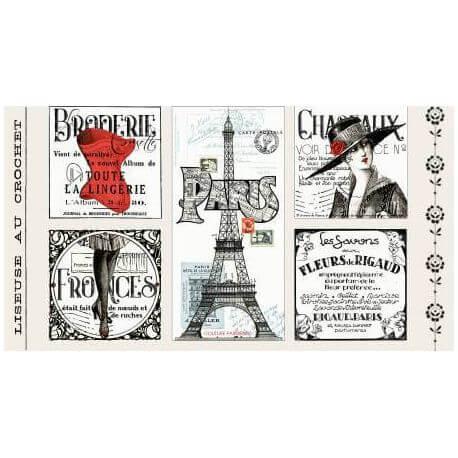 Panneau de tissu réclames françaises vintage - Couturière Parisienne