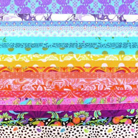 Joli roll de tissus patchwork Tula Pink