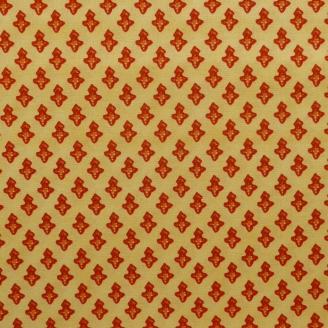 Tissu patchwork croix rouges fond crème