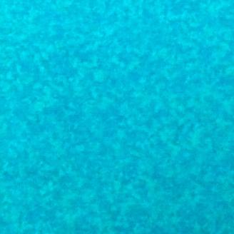 Tissu patchwork faux-uni bleu paon
