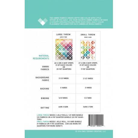 Ombre Gems - Modèle de patchwork