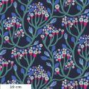 Tissu patchwork arbre en fleurs Bubbling fond marine - Endless Summer de Monika Forsberg
