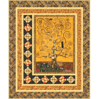 Kit de patchwork Guilded Tree (en anglais) avec les tissus Gustav Klimt