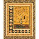 Kit de patchwork Gilded Tree (en anglais) avec les tissus Gustav Klimt
