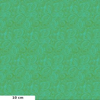 Tissu patchwork spirales vertes - Carnivale blue