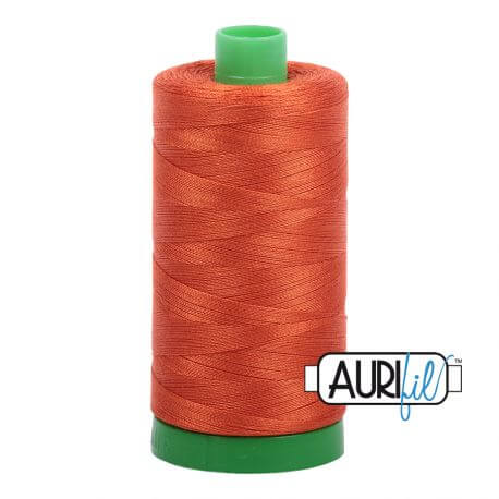 Fil Aurifil Mako 40 Orange Rouille 2240
