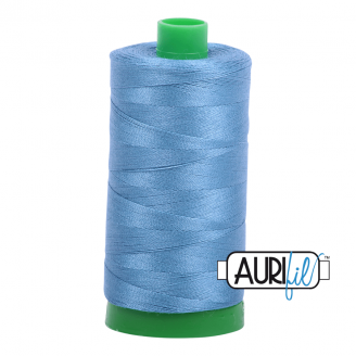 Fil Aurifil Mako 40 bleu porcelaine Wedgwood 4140