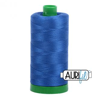 Fil Aurifil Mako 40 Bleu moyen 2735
