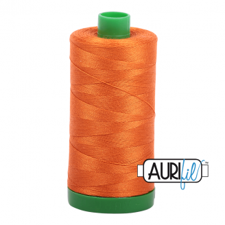 Fil de coton Aurifil Mako 40 orange 2150