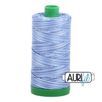 Fil Aurifil Mako 40 bleu dégradé 4655