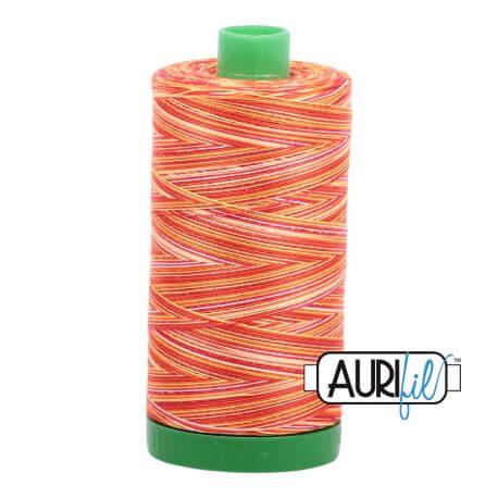 Fil Aurifil Mako 40 jaune orange dégradé 4657
