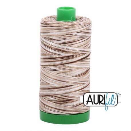 Fil Aurifil Mako 40 blanc chocolat 4667