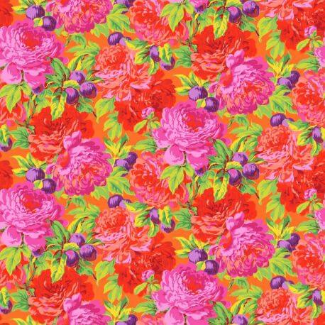 Tissu Philip Jacobs Luscious fond orange PJ011