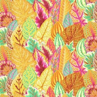 Tissu Philip Jacobs feuilles Coleus jaune PJ030