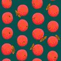 Tissu Kaffe Fassett Oranges fond vert pin GP177