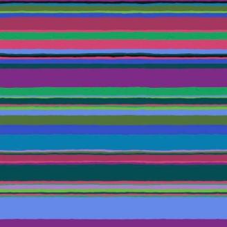 Tissu Kaffe Fassett rayures Promenade couleurs froides GP178