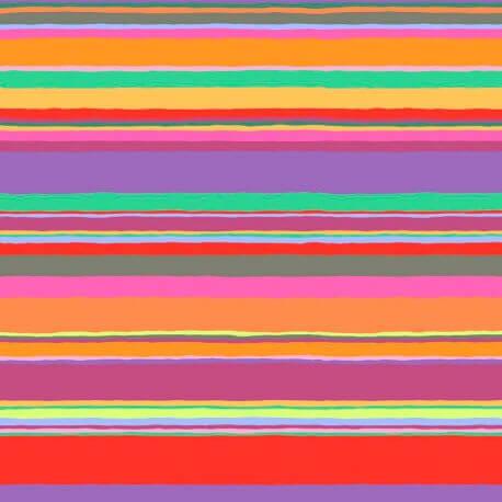Tissu Kaffe Fassett rayures Promenade couleurs chaudes GP178
