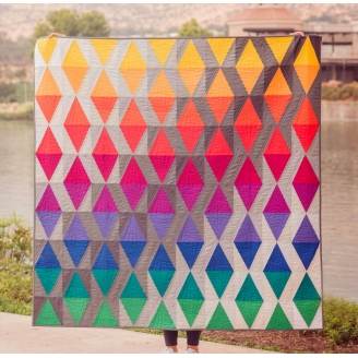 Sky with diamonds par Carolina Oneto - modèle et kit de patchwork