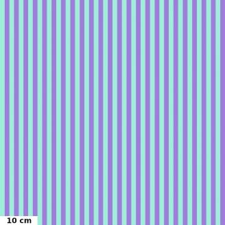 Tissu patchwork Tula Pink rayures lagon et lavande Pétunia TP069